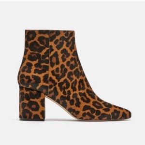 Zara leopard boots size 39